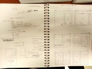 Idea Sketch - Thumbnail Layout 1
