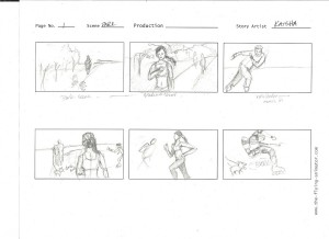 storyboard - jogger in park