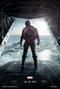 Poster of Marvel's 'Captain America: The Winter Soldier'. Photographed by Michael Muller.