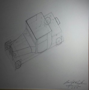 Car Technical Drawing