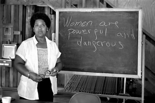 """Audre Lorde with text """"Women are Powerful and Dangerous"""""""