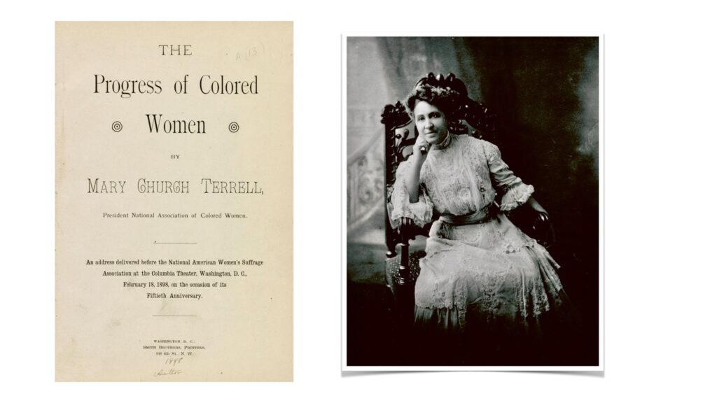 Mary Church Terrell, late nineteenth century; Library of Congress Prints and Photographs
