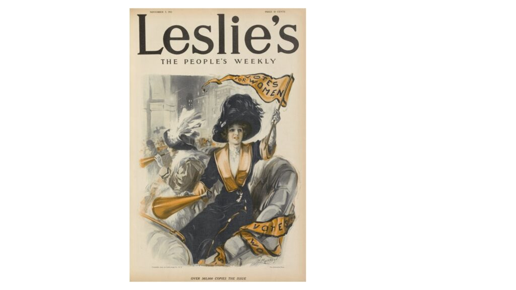 """""""Votes for Women,"""" Leslie's: The People's Weekly; NYPL Digital"""