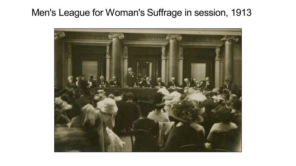 Men's League for Woman's Suffrage, 1913; NYPL Digital
