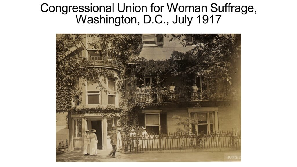 Congressional Union for Woman Suffrage, Washington, D.C., July 1917