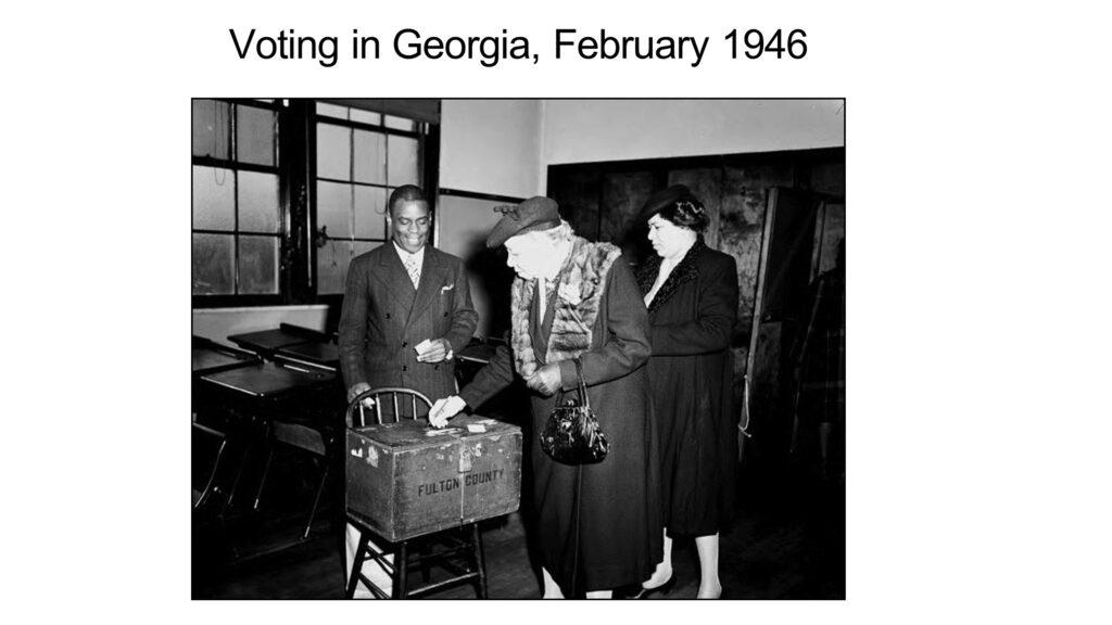 Voting in Georgia, February 1946