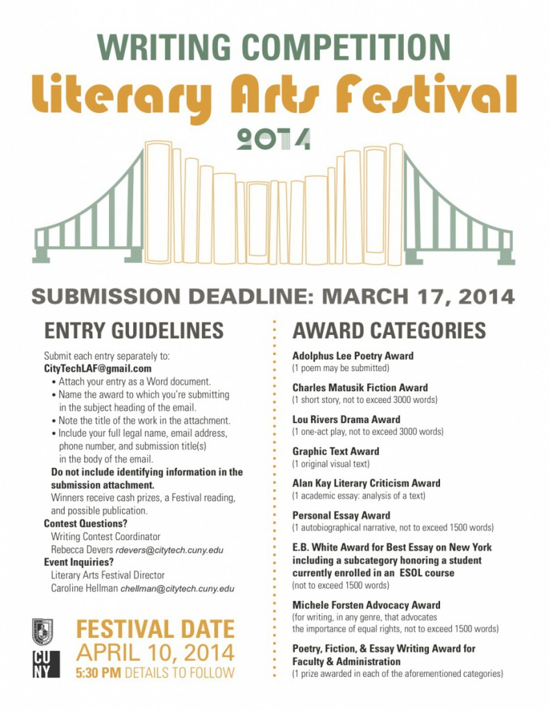 LAF Writing Competition Poster 2014