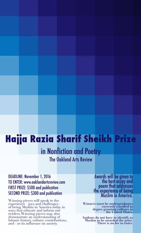 Hajja Razia Sharif Sheikh Prize in Nonfiction and Poetry