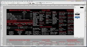 Utopia Bagel menu board before