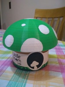 Mushroom-shaped tea caddy