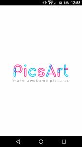 Pics Art Welcome screen