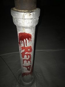 creep pole graffiti