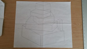 Boxes from sight, sighting, perspective angles and proportions