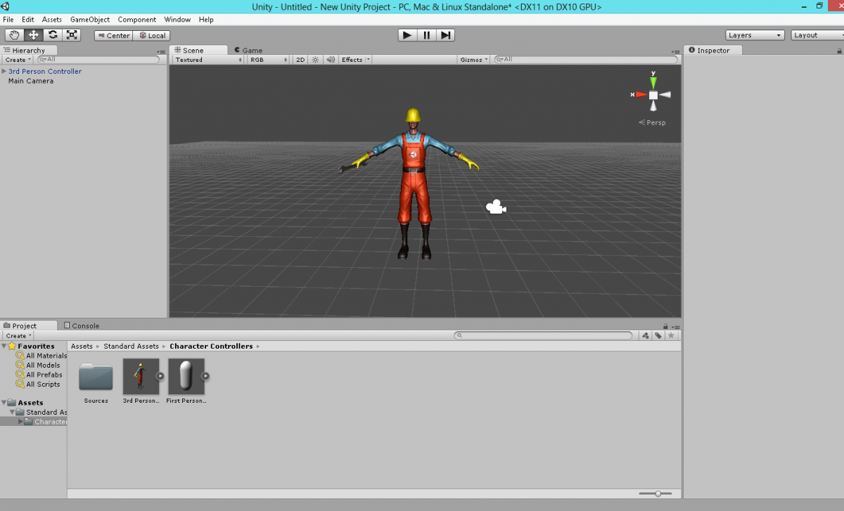 Example Unity Character Model