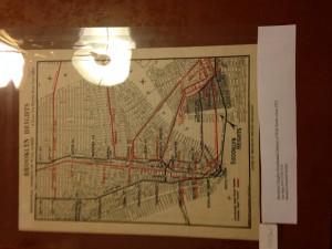 1900s Transportation Map between Manhattan and Brooklyn