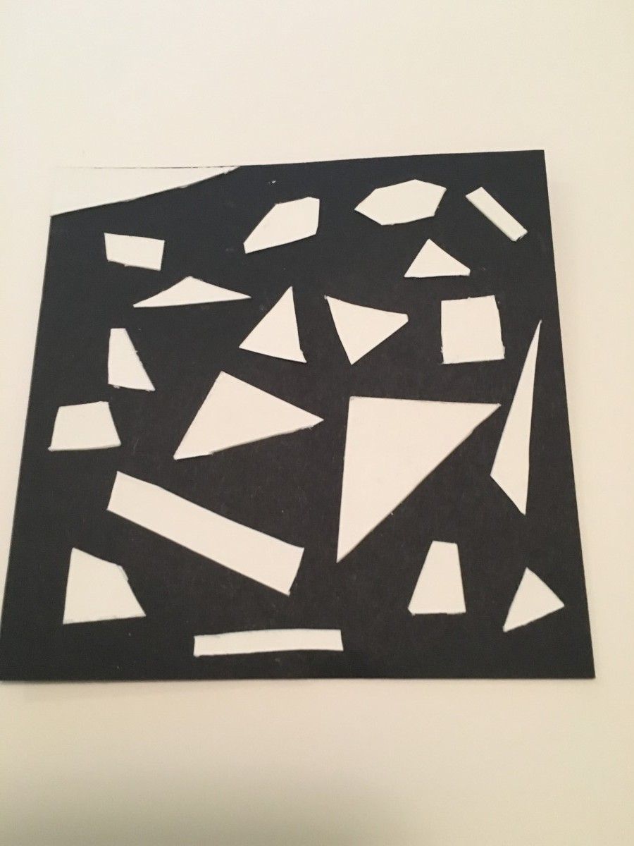 Principles Of Design Shape : Back and forth geometric organic shape composition