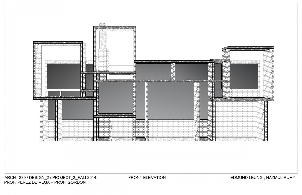 Front Elevation Design In Revit : E portfolio nazmul h rumy