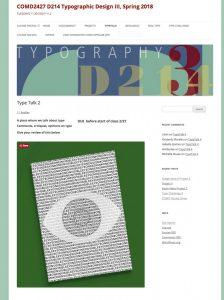 Screenshot of Type Talk assignment
