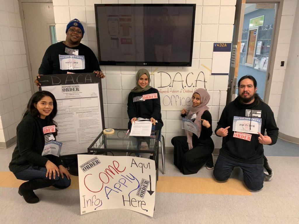 Prof. Almeida's students get involved with DACA activism