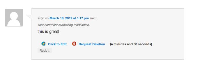 ajax edit comments screenshot 1