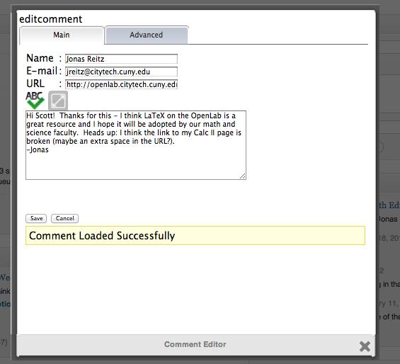 ajax edit comments screenshot 4