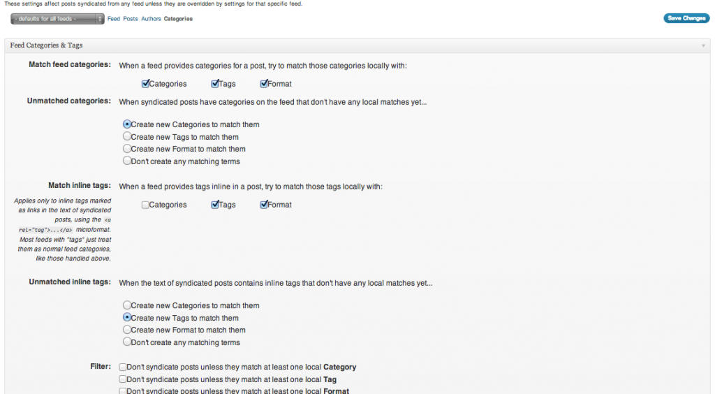feed wordpress screenshot 3