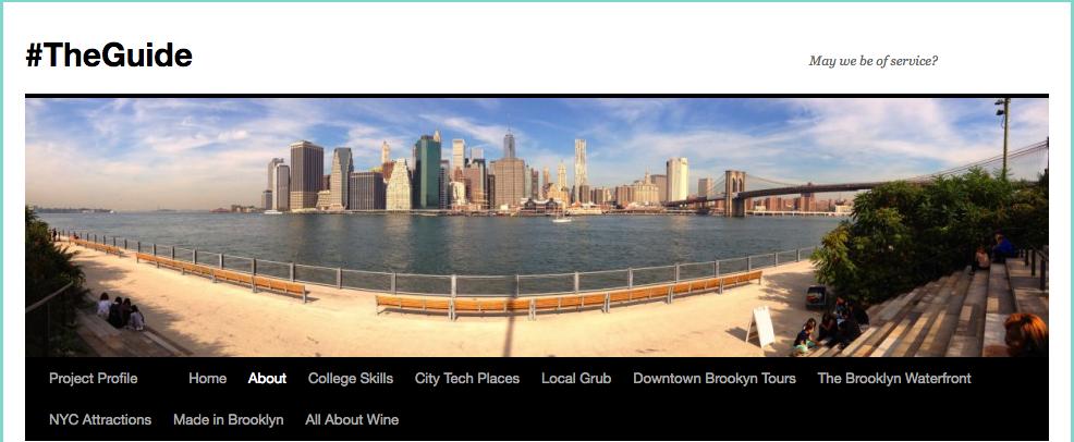 #TheGuide site header