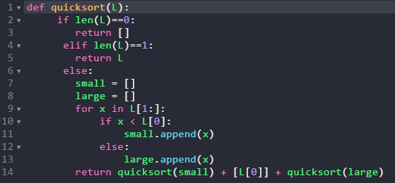 An example of python code in a basic text editor.