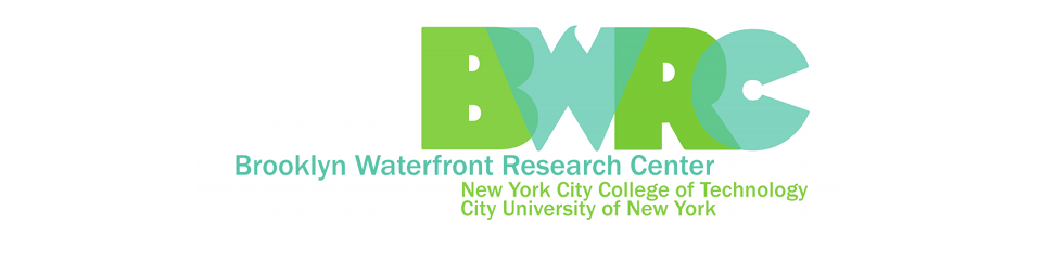 "The banner image from the Brooklyn Waterfront Center site. It says the letters ""B"", ""W"", ""R"" and ""C"" in large letters."