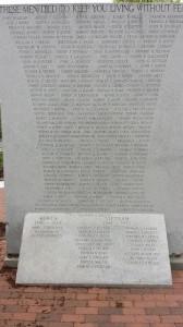 QV War Veterans Memorial