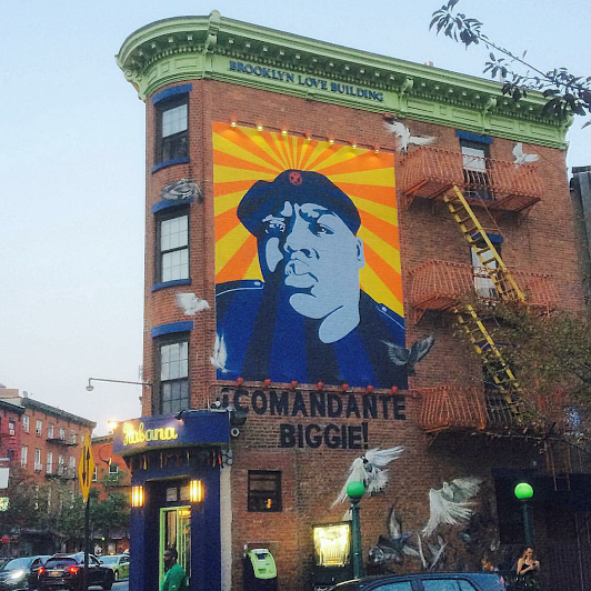 Gina delgado our places how we commemorate for Biggie smalls mural brooklyn