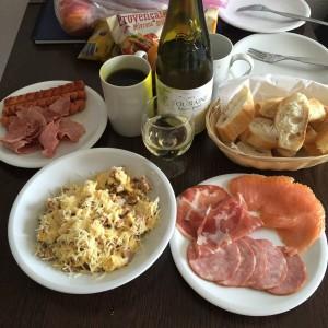 Breakfast made by Chef Yayun!