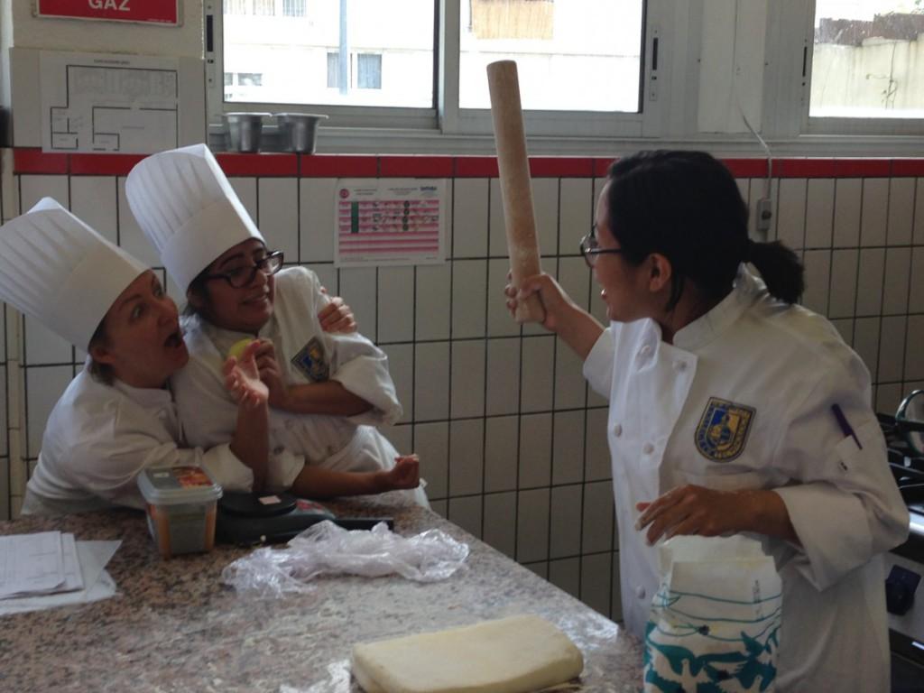 Liason Marya making sure we follow the recipe ;)
