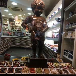 Chocolate Manneken Pis and WAFFLES :D