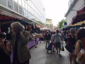 Walking into Marché de Vanves...