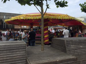 Activities available for children who visit the marché.