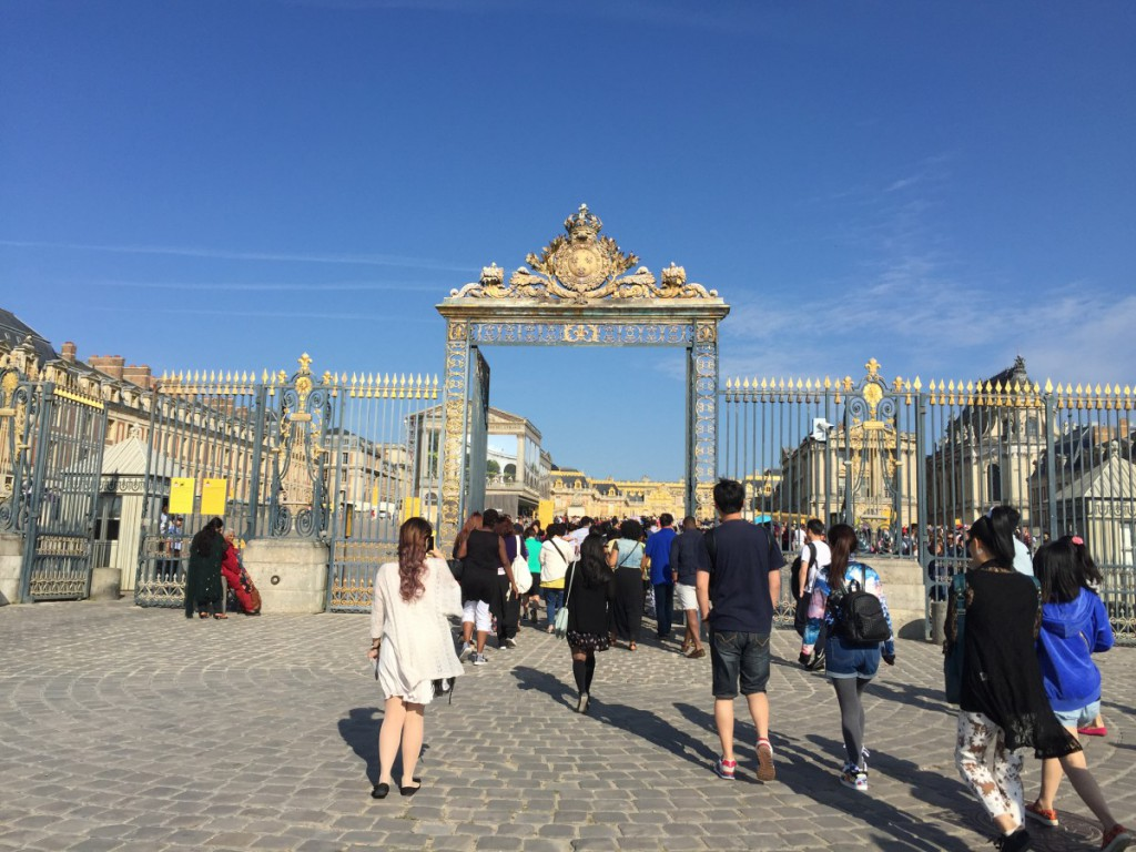 The entrance of Versailles.