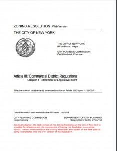 Article III_Commercial Distric Regulations_Page_1