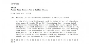 FAR bonus for public p;aza