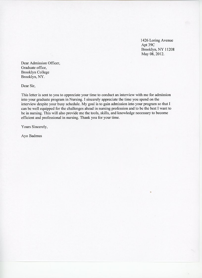 Thank Interview Letter Grude Interpretomics Co