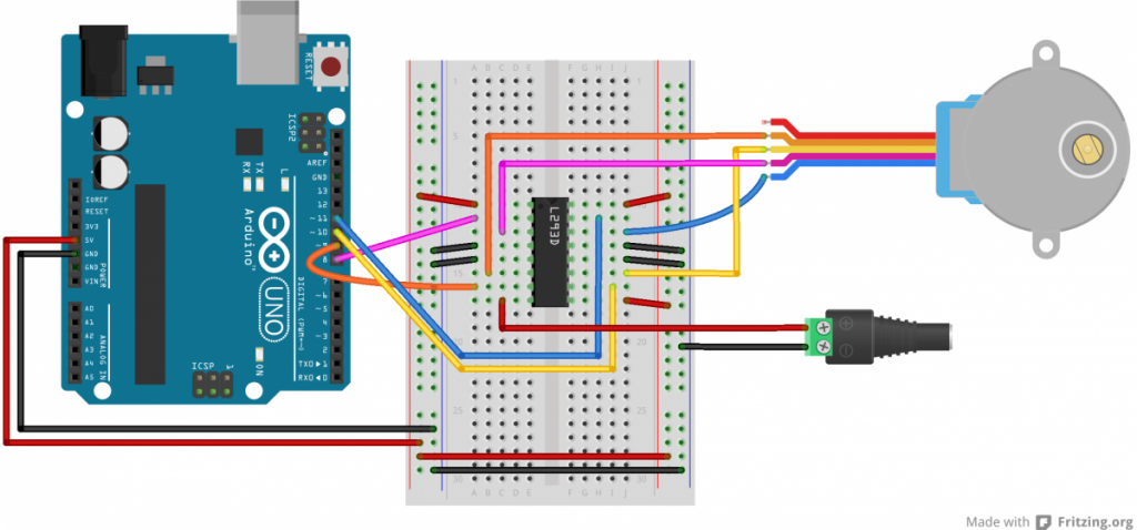 Arduino Tutorial - DC Motor Control with L293D Motor Driver
