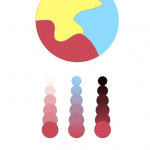 bottom (left to right); Tint, Two color gradient, shade