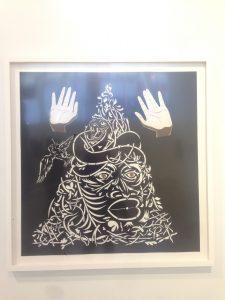 Title: Strong Medicine Artist: William Villalongo Medium: Cut velour paper on matte board