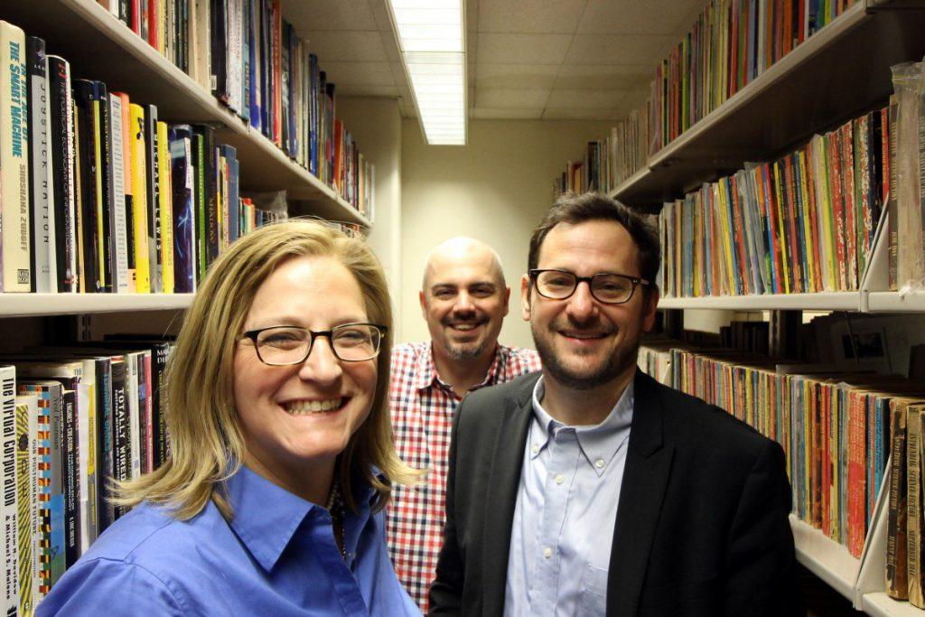 L to R: Lisa Rhody, Patrick Corbett, and Matt Gold.