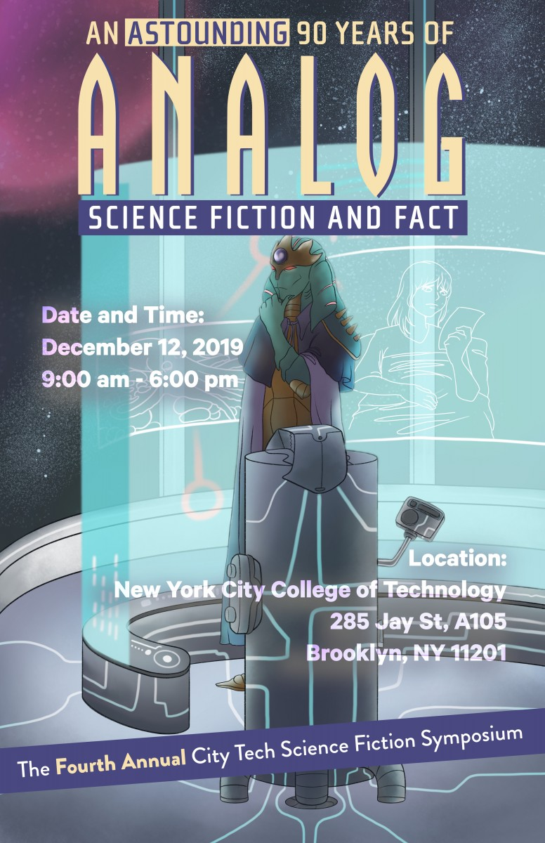 Fourth Annual City Tech Science Fiction Symposium Poster by Julie Bradford.