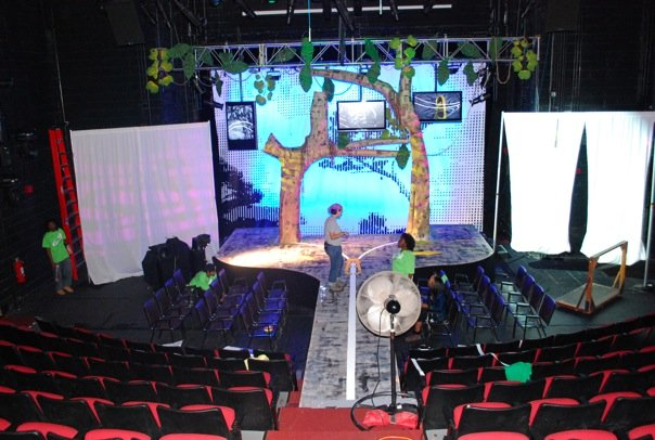 set of EcoEnvy in Voorhees Theatre May 2009