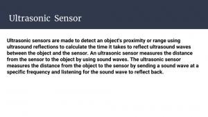 Slide 13 - Ultrasonic Sensor