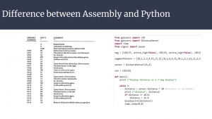 Slide 10 - Difference Between Assembly and Python