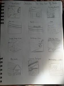 My thumbnail sketches ~ :)