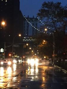 Get a peek of Manhattan Bridge as you walk across the street.